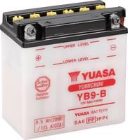 Motorkerékpár elem Yuasa YB9-B 12 V 9 Ah A következő modellekhez Motorkerékpárok, Motoros rollerek, Quadok, Jetski, Hómo Yuasa