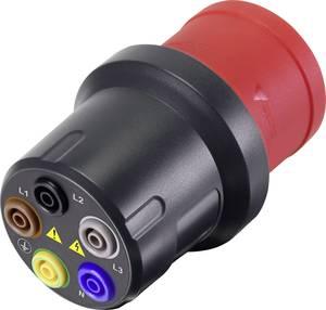 Mérőadapter [CEE dugó, 32 A, 5 pólusú - Alj, 4 mm] VOLTCRAFT VMA-3L 32 Sötétszürke, Piros (VC-8466260) VOLTCRAFT