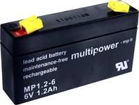 multipower PB-6-1,2-4,8 MP1,2-6 Ólomakku 6 V 1.2 Ah Ólom-vlies (AGM) (Sz x Ma x Mé) 97 x 57 x 25 mm 4,8 mm-es laposérint multipower