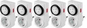 Basetech Dugalj időkapcsoló óra Analóg Napi program 3680 W IP20 Folyamatos üzem Basetech