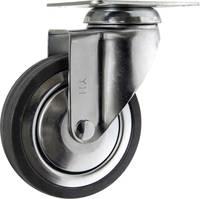 TOOLCRAFT TO-5137926 forgó görgő szerelőlappal, gumi 100 mm TOOLCRAFT