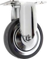 TOOLCRAFT TO-5137932 fix görgő szerelőlappal, gumi 100 mm (TO-5137932) TOOLCRAFT