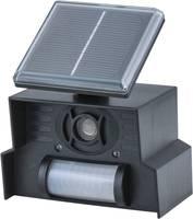 Ultrahangos kutyariasztó, macskariasztó és nyestriasztó, LED-es fény, Heitronic Solar-LED (90114) Heitronic