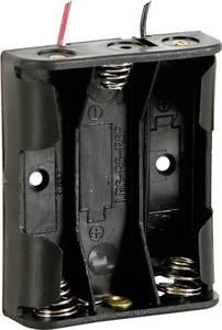 Velleman BH331A Elemtartó 3x Ceruza (AA) Kábeles (H x Sz x Ma) 58 x 48 x 17 mm Velleman