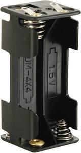 Velleman BH443D Elemtartó 4x Mikro (AAA) Forrasztható csatlakozó (H x Sz x Ma) 53 x 27 x 25 mm Velleman