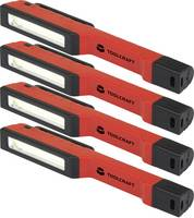 Toll lámpa, Munkalámpa Elemekről üzemeltetett LED 31 mm, 19 mm TOOLCRAFT 1717663 Piros/fekete TOOLCRAFT