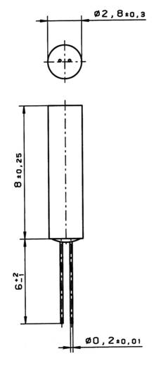 Heraeus platina hőmérsékletérzékelő, kerámia házban, -70 - +500 °C, MR828, 32 209 342