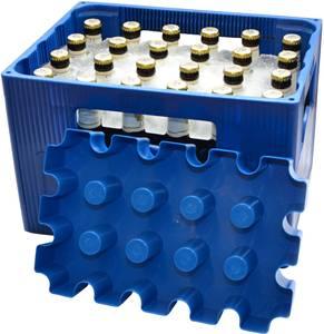 Jégblokkos palackhűtő forma sörrekeszhez 20 x 0,5l, kék, SL Eisblock SL Eisblock