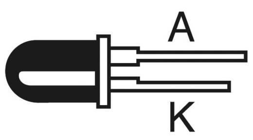 LED kivezetéssel Élénk piros Kerek 8 mm