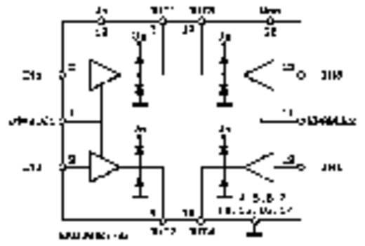 L293D 4 csatornás meghajtó IC