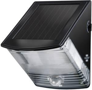 Brennenstuhl SOL 04 plus 1170970 Napelemes kültéri fali lámpa mozgásjelzővel 1 W Nappalifény-fehér Fekete Brennenstuhl