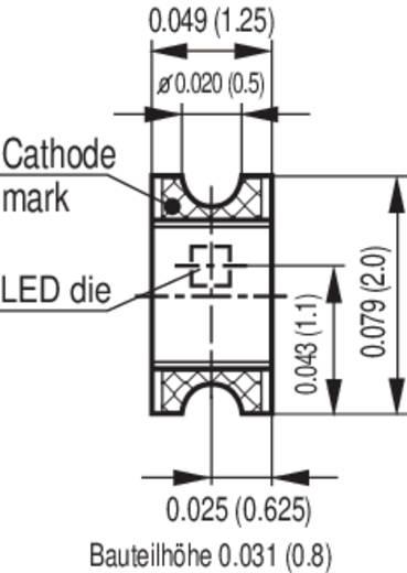 SMD LED 0805 Hiperpiros 20 mcd 160 °