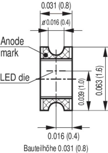 CHIP LED ,zöld LGR971 0805