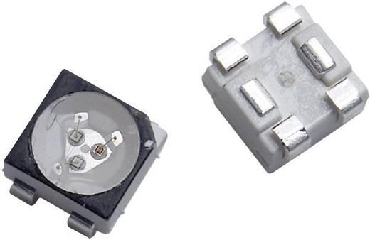 RGB SMD LED PLCC4, 620/1200/280 mcd, 120°, piros/zöld/kék, Avago Technologies ASMT-QTB4-0AA02
