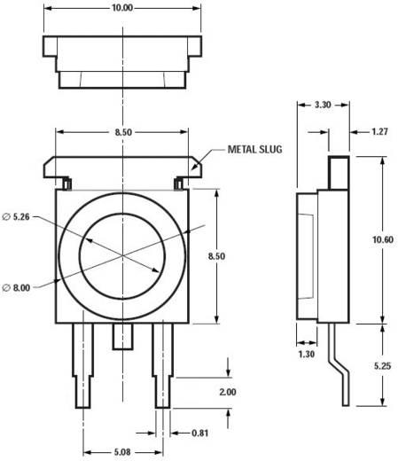 Moonstone SMD LED, 105 lm, 110°, 1 W, hidegfehér, Avago Technologies ASMT-MW04-NLN00