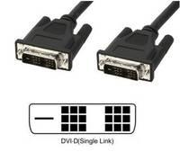 TECHly DVI Csatlakozókábel [1x DVI dugó, 18+1 pólusú - 1x DVI dugó, 18+1 pólusú] 1.8 m Fekete (ICOC-DVI-8000) TECHly