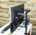 """Techly asztaltartó 4 LCD TV 13 """"-27"""" LED-hez, max. 4x 8kg, szorítóval"""