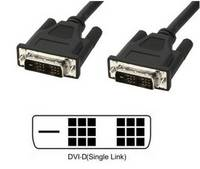 TECHly DVI Csatlakozókábel [1x DVI dugó, 18+1 pólusú - 1x DVI dugó, 18+1 pólusú] 5 m Fekete (ICOC-DVI-8050) TECHly