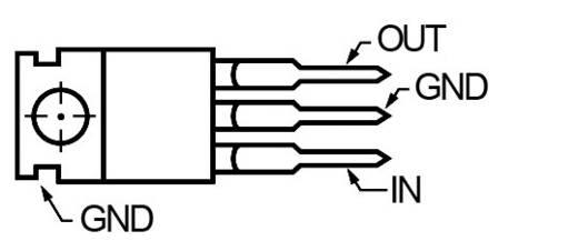 78 S 09 9V 2A Stabilizált IC