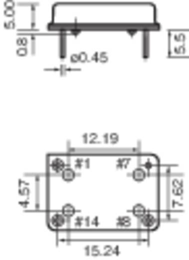 Kvarc oszcillátor, frekvencia: 4 MHz, DIP 14, (H x Sz) 20,7 x 13,1 mm, TFT680
