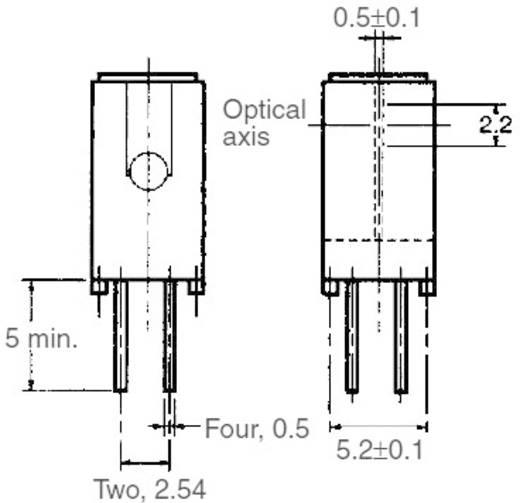 Villás fénysorompó, hatótáv: 5 mm, Omron EE-SX1041