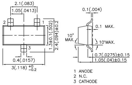 SMD LED SOT23 Zöld 8 mcd 140 ° 20 mA 2.2 V Kingbright KM-23SGD-F