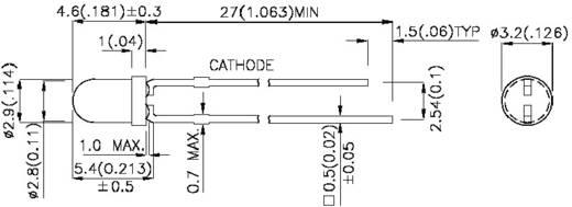 LED kivezetéssel Kék Kerek 3 mm 80 mcd