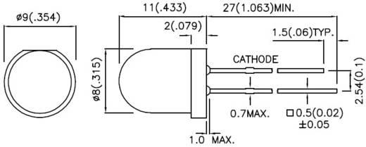 LED, szuperfényes, 8MM L-793SRD-E