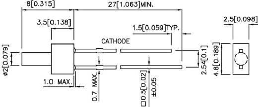 LED lapos fejű , 2MM L-13YD