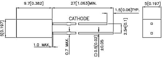LED kivezetéssel Sárga Szögletes 5 x 5 mm 5
