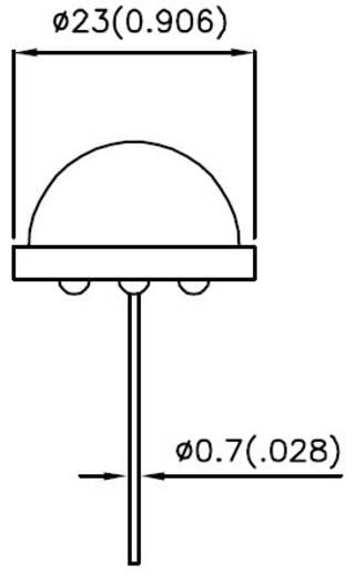 LED kivezetéssel Piros Kerek 20 mm 380.25 mcd 120 ° 20 mA 5.55 V Kingbright