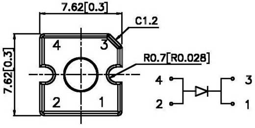 LED, 70°-os sugárzási szöggel, Super-Flux Kingbright L-7679C1PBC-Z 70 ° Kék Ház típus 7,6 x 7,6 mm 4500 mcd
