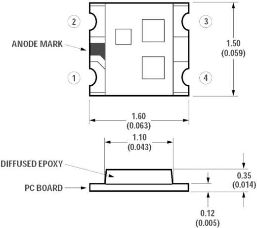SMD Top-Mount Chip-LED 85/180/70 mcd, 145°, piros/zöld/kék, Avago Technologies HSMF-C114