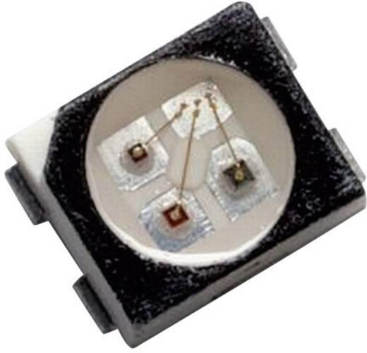 Többszínű SMD LED PLCC4, 80/160/40 mcd, 120°, piros/zöld/kék, Avago Technologies HSMF-A341-A00J1