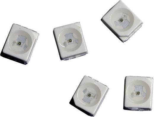 SMD LED PLCC2, 100 mcd, 120°, 20 mA, 1,9 V, piros, Avago Technologies HSMC-A100-Q00J1
