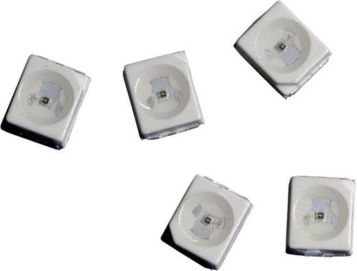 SMD LED PLCC2, 12 mcd, 120°, 20 mA, 2,2 V, sárga, Avago Technologies HSMY-A100-L00J1