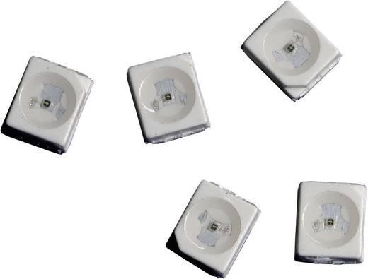 SMD LED PLCC2, 350 mcd, 120°, 20 mA, 3,4 V, zöld, Avago Technologies HSMM-A100-S00J1