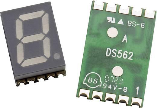 7 szegmenses kijelző, Narancs 14.22 mm 2.1 V Számjegyek: 1 Avago Technologies HDSM-533L