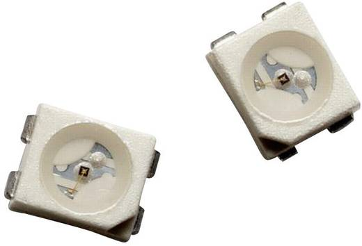 SMD LED PLCC4, 40-130 mcd, 120°, smaragdzöld, Avago Technologies HSME-A401-P4PM1