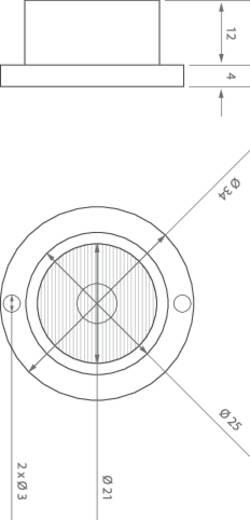 Nagyteljesítményű LED modul,3/60°, 1W sárga