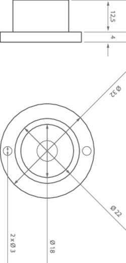 Nagyteljesítményű LED modul,10°, 1W sárga