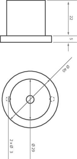 LED modul, 66 lm, 30°, 1 W, Ø 40 x 27 mm, melegfehér, LEDxON 9008080 ALUSTAR