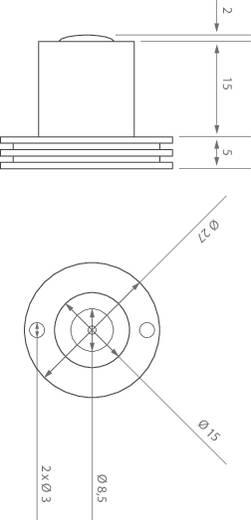 LED modul, 66 lm, 60°, 1 W, Ø 27 x 22 mm, melegfehér, LEDxON 9008126 ALUSTAR