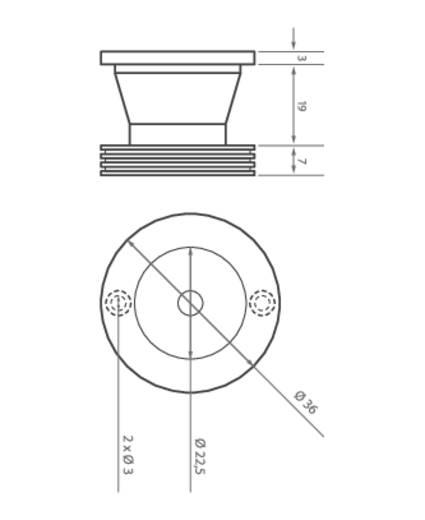 Nagyteljesítményű LED modul,30°, 3W melegfehér