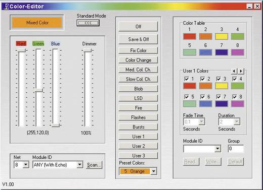 RGB vezérlőkészülék, CHROMOFLEX RGB III RC I350, Barthelme 66000060
