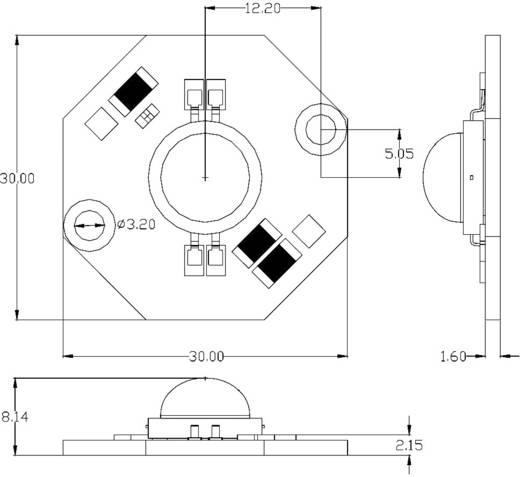 Seoul Semiconductor Acriche High-Power LED-modul hálózati feszültségre, meleg-fehér, 150lm, 4W, 110°, AN3231