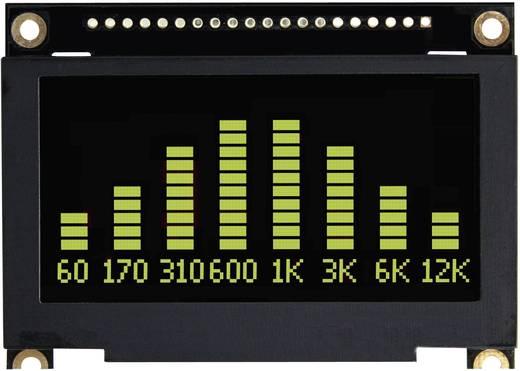 OLED kijelző 6,86 cm, 128 x 64 pixel, kijelző felület: 61,41 x 30,69 mm, zöld, VGG12864L-S005