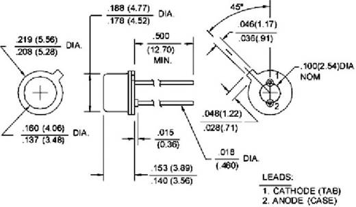 AlGaAs Infravörös-LED SE sorozat Honeywell SE3470-003 Ház típus TO 46 Hullámhossz 880 nm