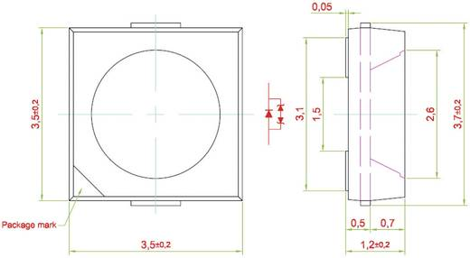 SMD LED, PRIMAX, kék NAB-SSG