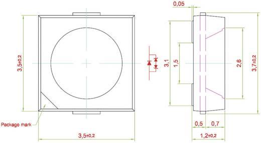 SMD LED, PRIMAX, melegfehér NAF-BSG-MN-1